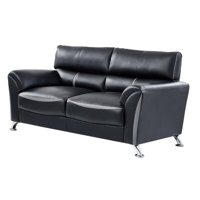 Leavens Sofa Upholstery: Black/Gray