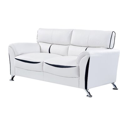 Leavens Sofa Upholstery: White/Black