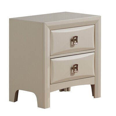 Schuyler 2 Drawer Nightstand Color: Cream
