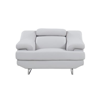 Natalie Armchair Upholstery: Light Gray