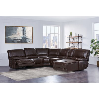 Reclining Sectional Upholstery : Brown