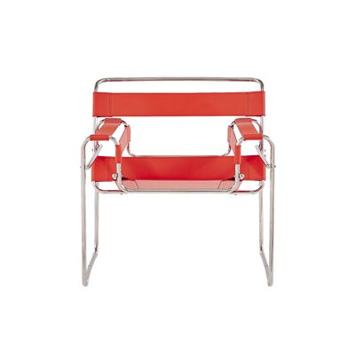 Warfield Strap Style Armchair Finish: Red