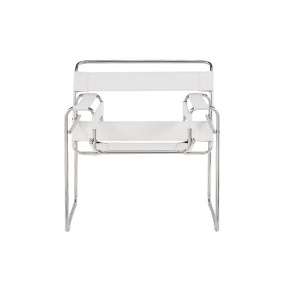 Warfield Strap Style Armchair Finish: White