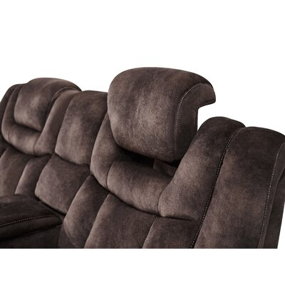 Pradeep Power Adjustable Headrest Console Reclining Loveseat