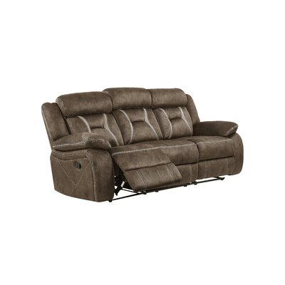 Mateas Stitched Fabric Reclining Sofa