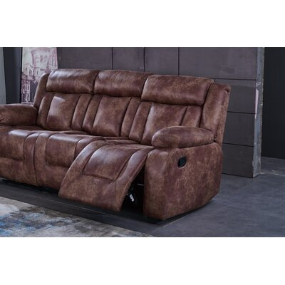 Willi Flared Arms Sofa Upholstery: Brown