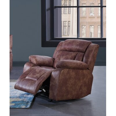 Melvous Extra Plush Reclining Sofa Upholstery: Brown