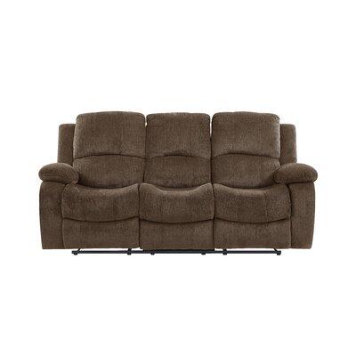 Siddhesh Extra Plush Reclining Sofa Upholstery: Coffee