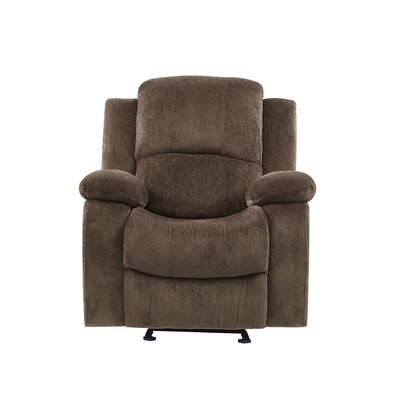 Soma Extra Plush Manual Glider Recliner Upholstery: Coffee