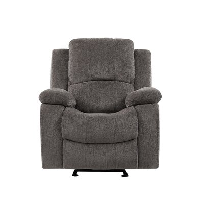 Soma Extra Plush Manual Glider Recliner Upholstery: Mocha