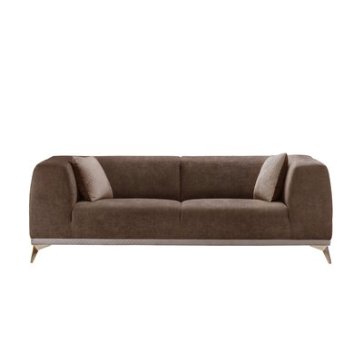 Anadolu Stitched Sofa Upholstery: Dark Brown