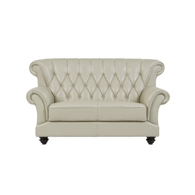 Livingston Tufted Loveseat Upholstery: Pearl