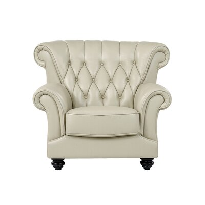 Llewellyn Tufted Armchair Upholstery: Pearl