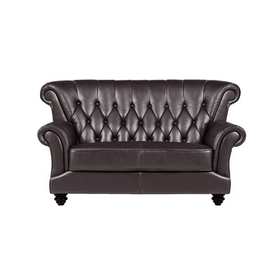 Livingston Tufted Loveseat Upholstery: Coffee