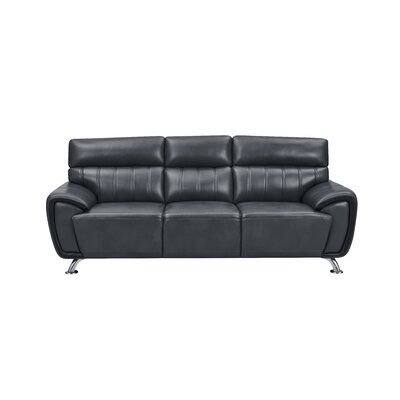 Angleterre Stitch Detailed Sofa Upholstery: Black