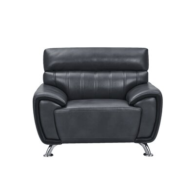 Ansorge Stitch Detailed Armchair Upholstery: Black