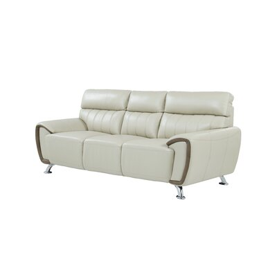 Angleterre Stitch Detailed Sofa Upholstery: Pearl