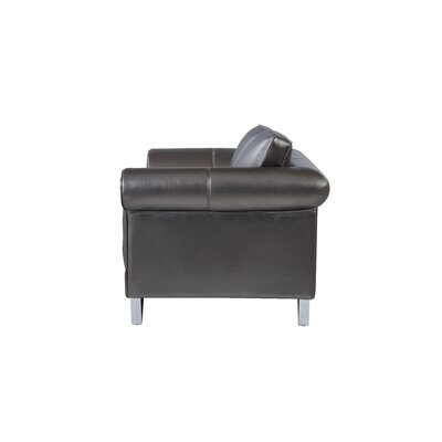 Aquinas Shell Design Arm Loveseat