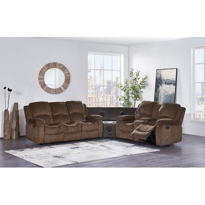 Emmet Reclining Sectional Upholstery: Coffee