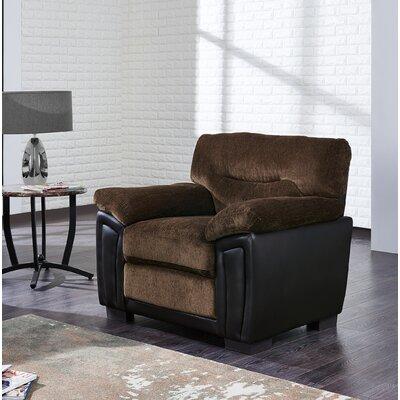 Demarcus Armchair Upholstery: Coffee/Brown