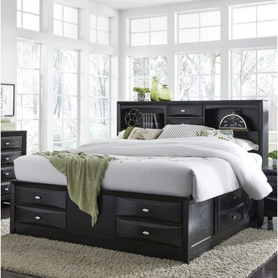 Treadwell Storage Platform Bed Color: Black, Size: Queen