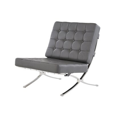 Lounge Chair Upholstery: Dark Gray
