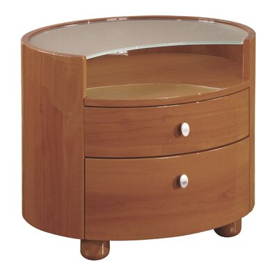 Financing Evelyn 2 Drawer Nightstand Color: G...