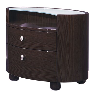 Rent to own Evelyn 2 Drawer Nightstand Color: G...