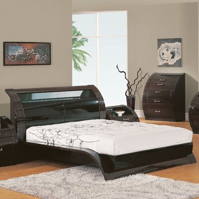 Global Furniture Madison Queen Bed in Black/Kokuten Finish