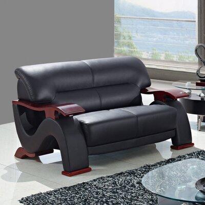 Furniture-Loveseat Upholstery Black