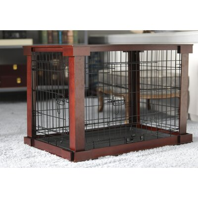 Bertie Deluxe Pet Crate in Brown Size: Small (19 H x 18 W x 24 L)