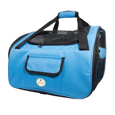 Stickney Ultra-Lock Collapsible Travel Pet Carrier Color: Blue