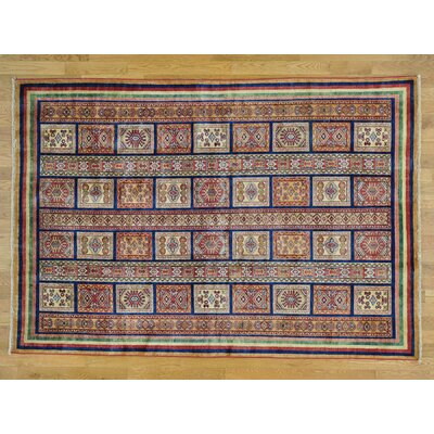 Hoffman One-of-a-Kind Super Kazak Hand-Knotted Wool Red Area Rug