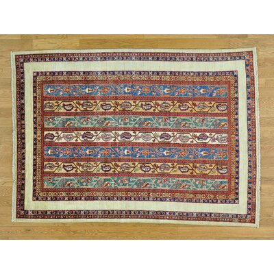 One-of-a-Kind Hoffman Shawl Super Kazak  Hand-Knotted Wool Red Area Rug