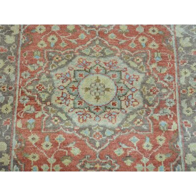 One-of-a-Kind Heise Antiqued Tabriz Re-creation Pure Oriental Hand-Knotted Wool Red Area Rug