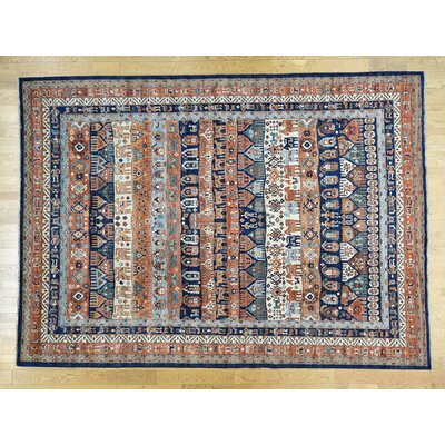 One-of-a-Kind Hoffman Tribal And Southwestern Pictorial Hand-Knotted Wool Area Rug