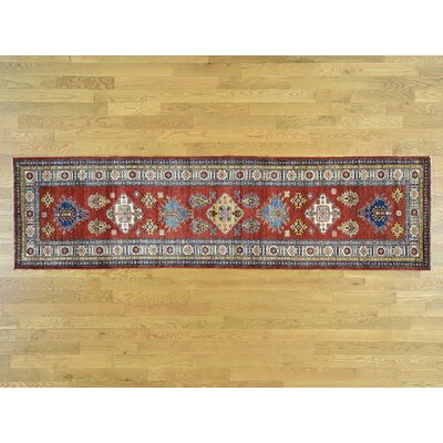 One-of-a-Kind Dorcey Kazak Super Southwestern Hand-Knotted Wool Red Area Rug