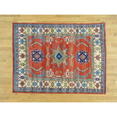 One-of-a-Kind Sanjuana Kazak Hand-Knotted Wool Red Area Rug