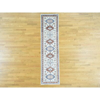 One-of-a-Kind Pietsch Hand-Knotted Wool Gray/Ivory Area Rug