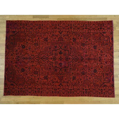 One-of-a-Kind Hoffman Overdyed Tabriz Hand-Knotted Wool Red Area Rug