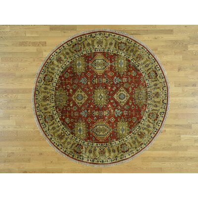 One-of-a-Kind Pietsch Hand-Knotted Wool Gold/Red Area Rug