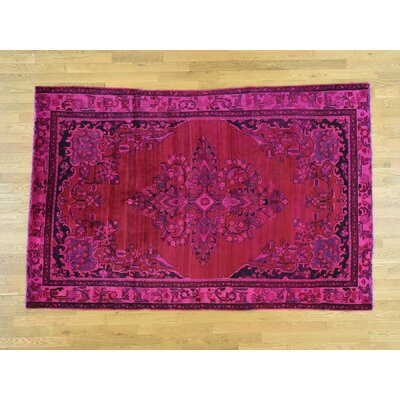 One-of-a-Kind Overbay Lilahan Overdyed Vintage Hand-Knotted Pink Area Rug
