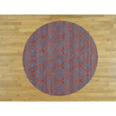 One-of-a-Kind Dyess Reversible Flat-Weave Hand-Knotted Wool Rust Red Area Rug