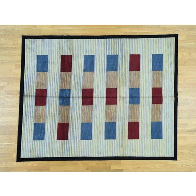 One-of-a-Kind Livonia Nepali Closeout Hand-Knotted Wool Beige Area Rug