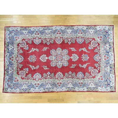 One-of-a-Kind Overbay Kerman Mind Cond Hand-Knotted Wool Red Area Rug