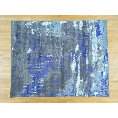 One-of-a-Kind Despres Abstract Hand-Knotted Blue/Gray Area Rug
