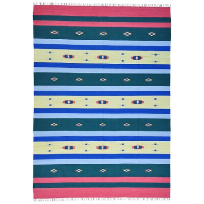 One-of-a-Kind Toles Southwest Flat Weave Killim Hand-Knotted Cotton Area Rug