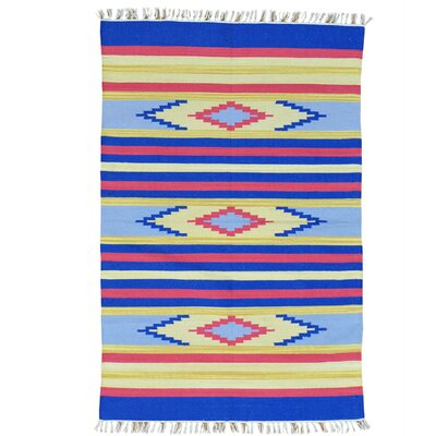 Rectangle 4 x 6 One-of-a-Kind Tollett Flat Weave Southwestern Killim Hand-Knotted Cotton Area Rug