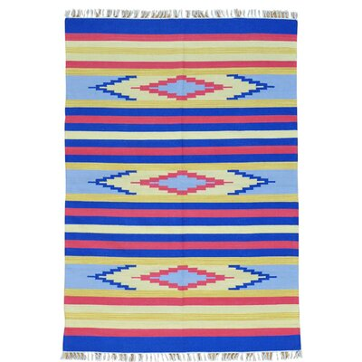 Rectangle 5 x 71 One-of-a-Kind Tolley Flat Weave Southwestern Killim Hand-Knotted Cotton Area Rug