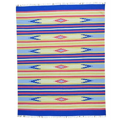 Rectangle 8 x 101 One-of-a-Kind Tolman Flat Weave Southwestern Killim Hand-Knotted Cotton Area Rug